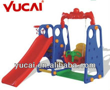 swing and slide/plastic swing and slide/outdoor playground equipments