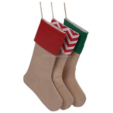 Yiwu Factory Wholesale Promotional Personalized Monogram Merry Christmas Santa Stockings