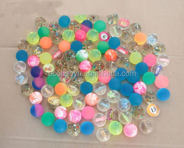 27mm Transparent Bouncy Ball/Rubber Bouncy Ball Vending Machine/Clear Bouncy Ball Wholesale