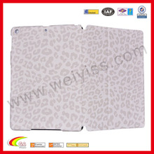Leopard print white leather cover for ipad mini