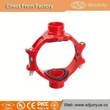 Customized/OEM Mechanical Cross Grooved Fitting Threaded Outlet