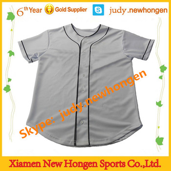 China quick dry baseball tops, baseball jerseys plain