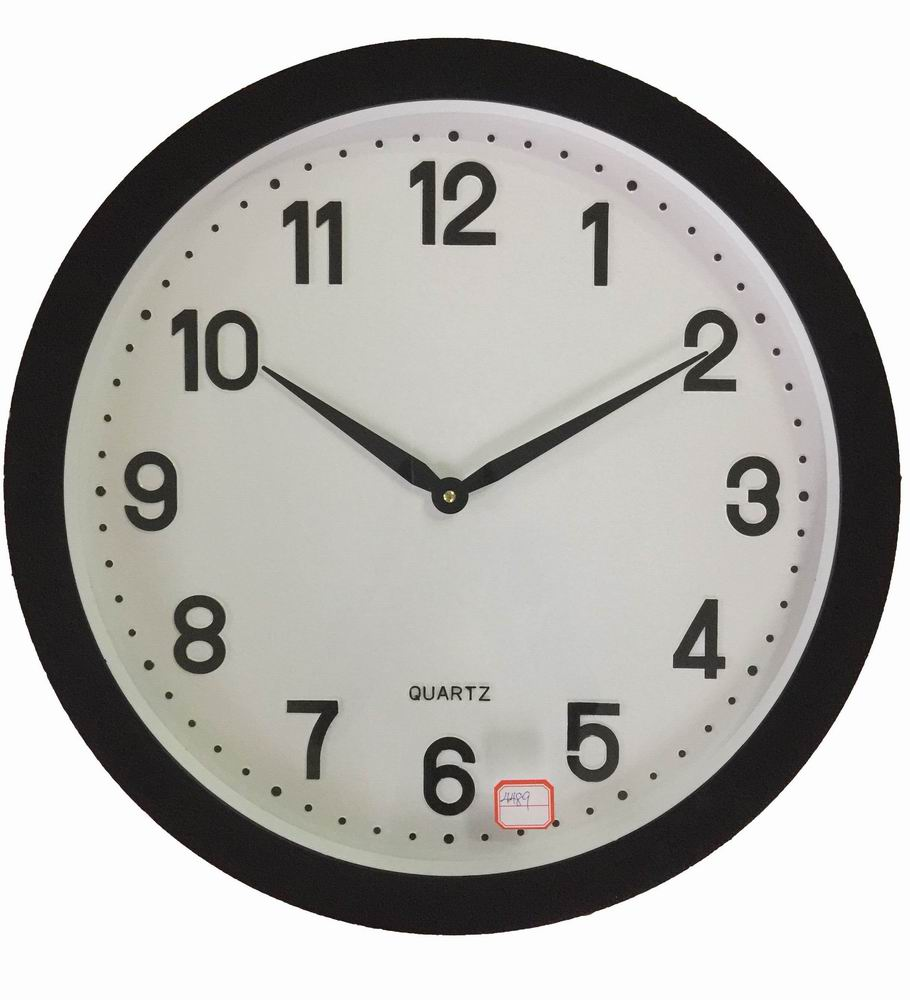 50cm Big Plastic Wall Clock With Black frame