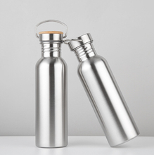High Quality Stainless Steel Sport Water Bottle Bamboo Lid for Out Door