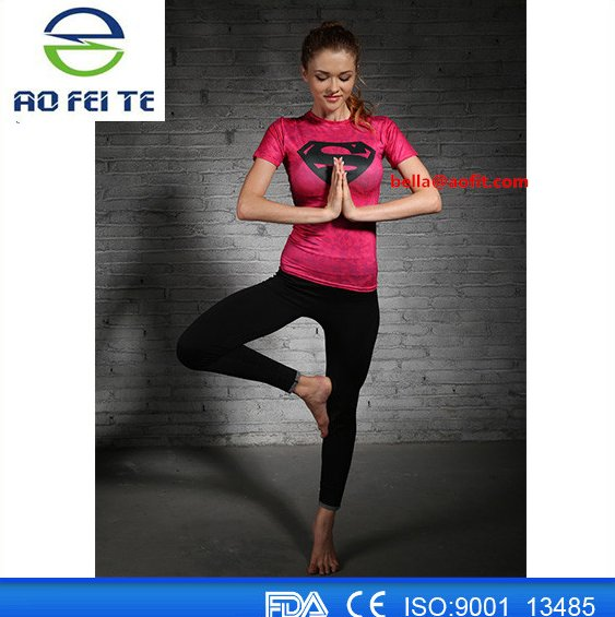 Aofeite Wholesale Fitness Apparel Manufacturers Customized unisex short sleeve sublimation 3d full printing gym t shirt