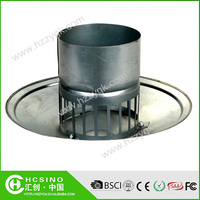 Chinese manufacture galvanized steel round roof vent cap / roof cowl vent cap / wall air vent cap
