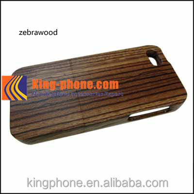 mobile phone zebra wooden case For Iphone 5s, cell phone case for iphone 5s