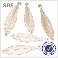 Wholesale High Quality Feather Shape Pendant