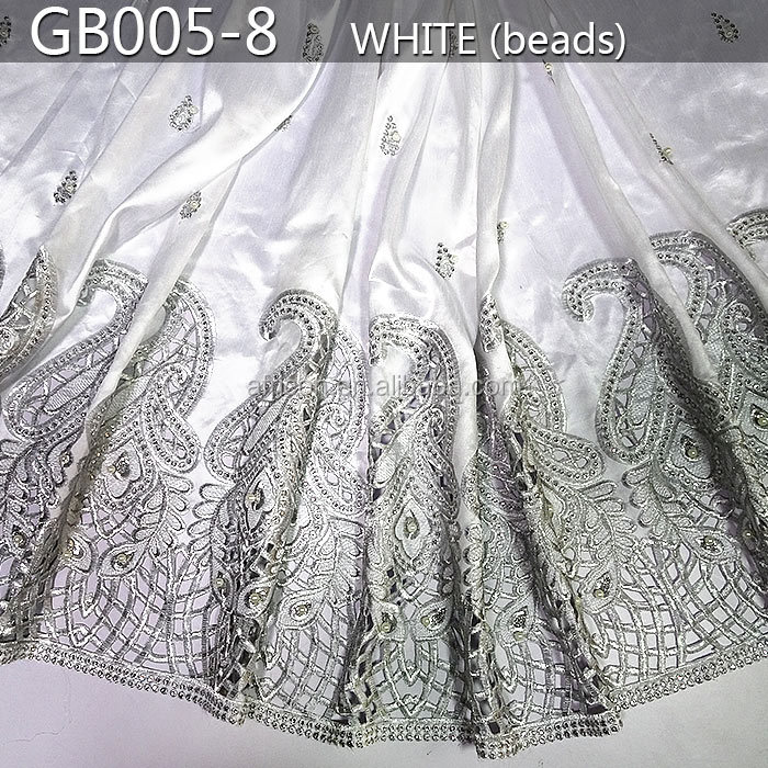 GB005-8 2015 raw silk george fabric/african lace george/raw silk george wrappers