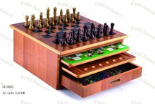 MDF 10 in 1 chess board games set --- factory direct sale!!