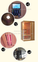russian outdoor Full Spectrum Red Glass Far Infrared baby Sauna Room