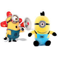 18 cm Minion toys despicable me creative minions 3D eyes yellow doll soybeans doll plush toys