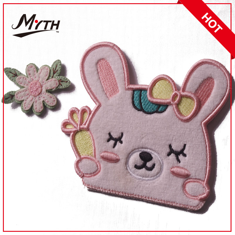 Hot sale wholesale embroidered patches,hand embroidery flower designs