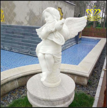 Garden Hotel villa outdoor marble sculpture decorated European violin playing little angel