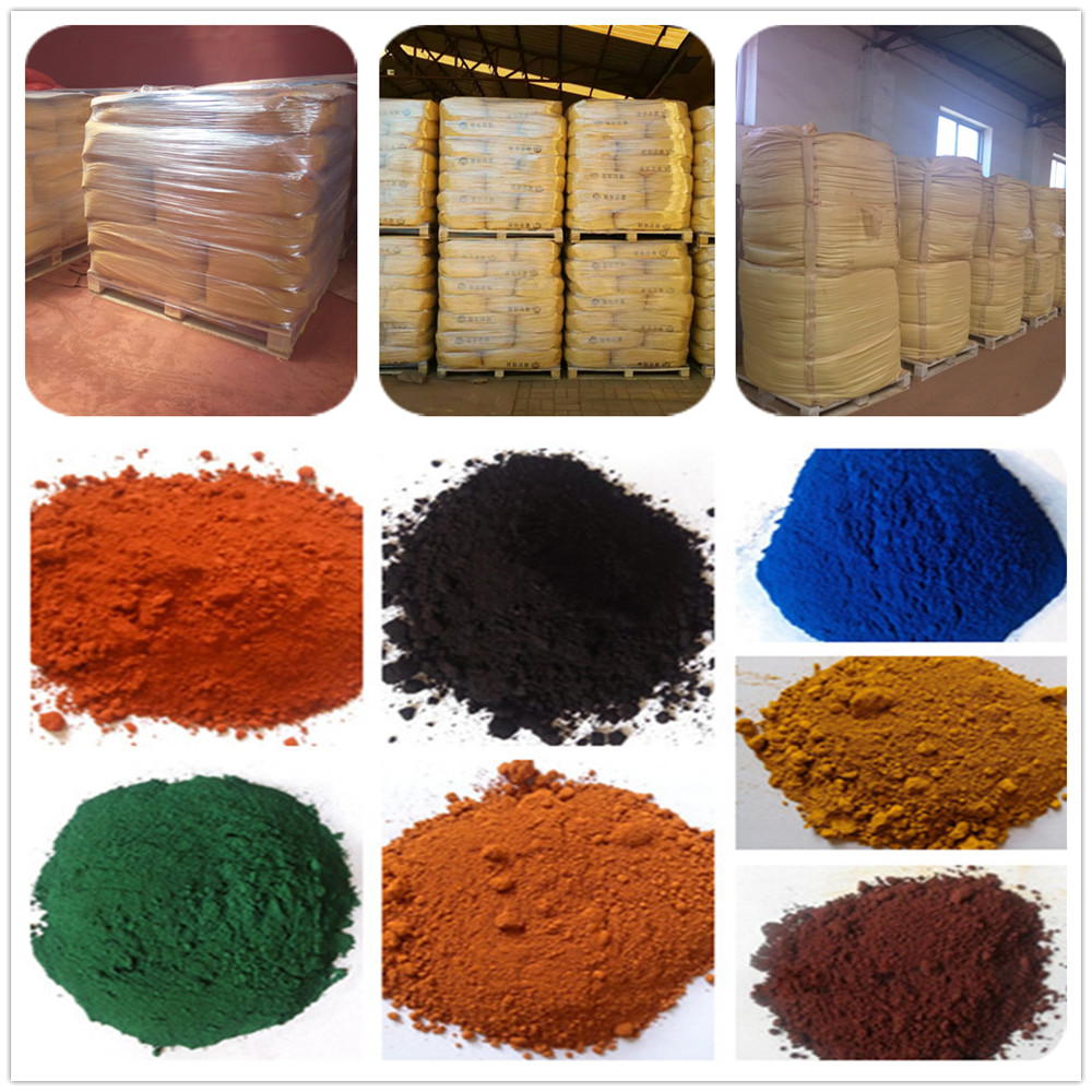 Bright color pigment iron oxide chemical formula for paint making