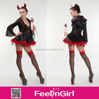 2014 New party cheap halloween devil catsuit sexy costumes