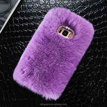 Bling Crystals Cute Luxury Fluffy Fur Hard Cover Case For iphone x 8 8 plus 7 7 plus 6 6s 6 plus