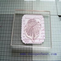 Customized clear acrylic stamping block china manufacturer