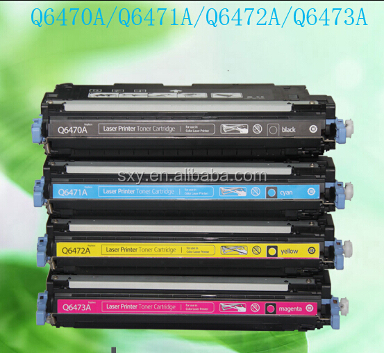 China Supplier Color Toner Cartridges for HP Q6470A BK/ Q6471A CY/ Q6472A YL/ Q6473A