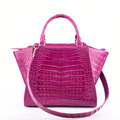 2018 spring luxury designer croco leather handbags lady purple
