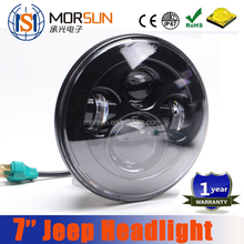 Morsun 7''inch led headlight, round hi/lo beam 7 inch motorcycle led headlights off road headlight