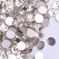 Over 80 Colors Factory Clear Flatback Non Hot Fix Nail Art Rhinestones Loose Crystal Strass