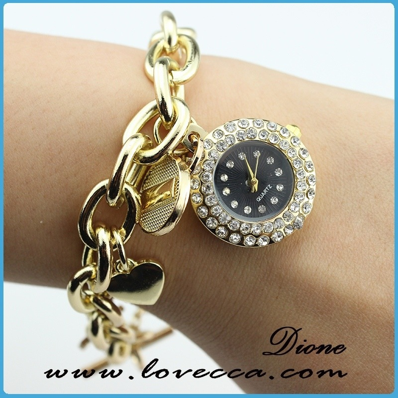 April Hot sellingladies bracelet watch jewerly bracelet , fashion lady dress watch