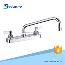 Brass 2 Holes Deck Mounted Chrome Finishing Faucet Taps Kitchen Faucet