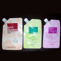 Stand up spout vacuum pouch bag liquid soap bag packaging plastic
