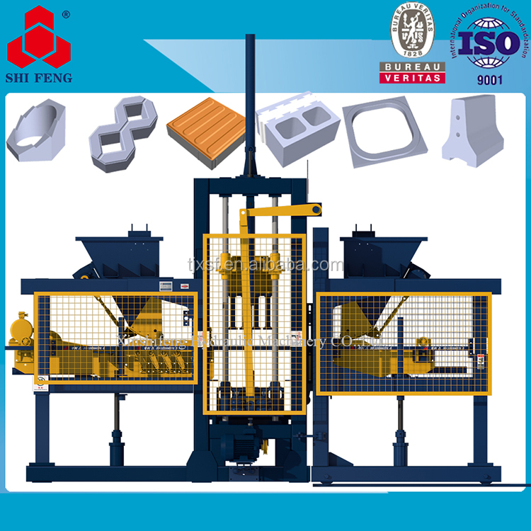 Eco Concrete Hollow Block Brick Making Manufacturing Machine Price List