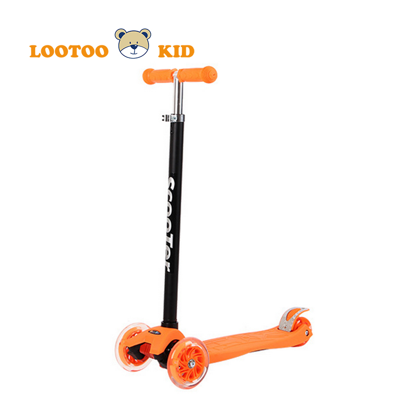 Alibaba china factory cheap price three PU wheel kids petrol micro mini scooter