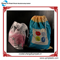 Degradable PE Drawstring Laundry bag