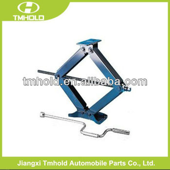 Blue color 2 Ton Scissor lifting jack with handle for CE certificates