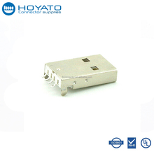 Factory USB Connector Price 4 Pin Mini A Type Male Plug Right Angle PCB Mount USB Header Connector