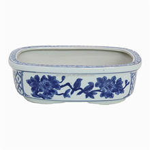 chinese ceramic blue and white flower pot