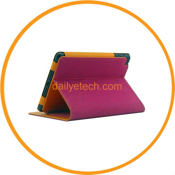 Fashion Jeans Style Leather Stand Smart Flip Back Cover for iPad Mini from Dailyetech