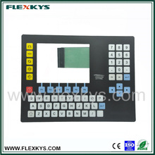Electronic scale control panel metal dome membrane keypad clear window