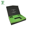 China Factory Luxury Custom design rigid book shaped cardboard box with insert