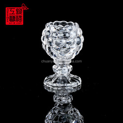 Newest sale special design mosaic cup tall clear glass candle holders