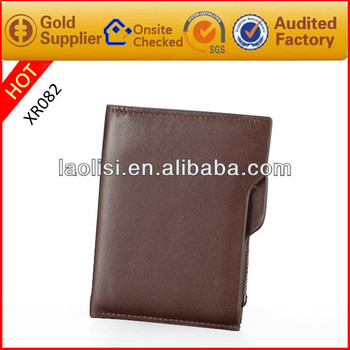 New style european men pu leather wallet