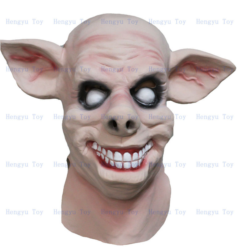 Top Hot Selling Adult Size Deluxe Quality Fashion Carnival Party Fancy Dress Latex Costume Horror pig Mask For animal movie