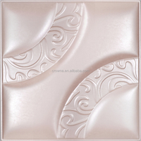 glass decoration 3D Leather Engraved Wall Panel high quality 3d pop design