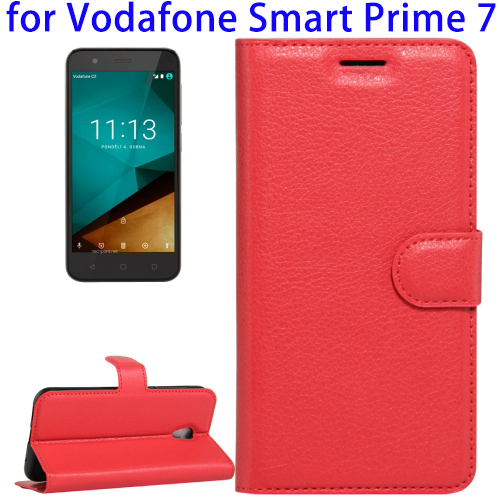 Alibaba New Products Horizontal Flip Leather Case for Vodafone Smart Prime 7, Cover for Smart Prime 7