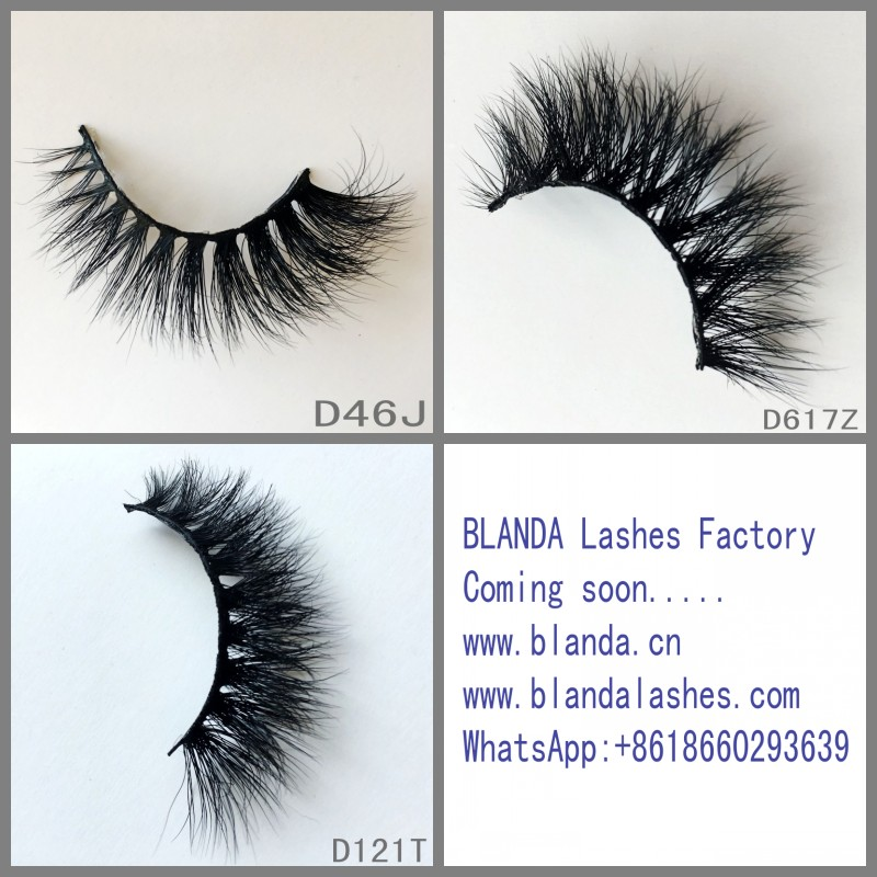 High quality own brand Natural Long 3D Mink lashes False Eyelash