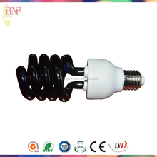 Energy Saving half Spiral 9w Black Light UV bulb