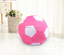 White and Pink Waterproof PVC bean bag Football and soccer ball design