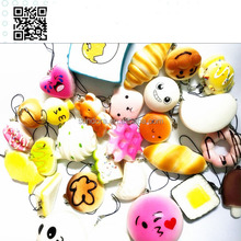 Pu kawaii soft cheap squishy phone straps