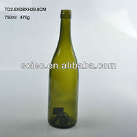 bulk Round Glass Plum Wine Bottle