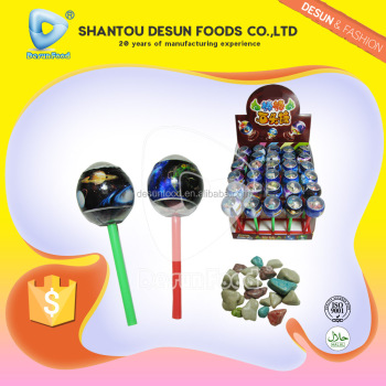 milk flavor stone candy with planet lollipop