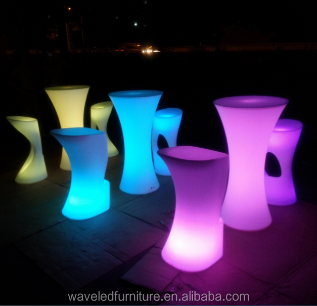 Fashionable LED cocktail table/lighted up LED cocktail furniture for club/KTV/bar